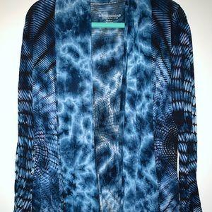 Soft Surroundings Blue Tie Dye Cardigan Medium